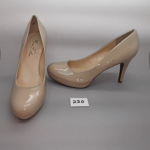 "Marc Fisher ""Sydney2"" Nude Patent Pump Size 9.5"
